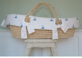 by the sea moses basket by sweet william - currently unavailable