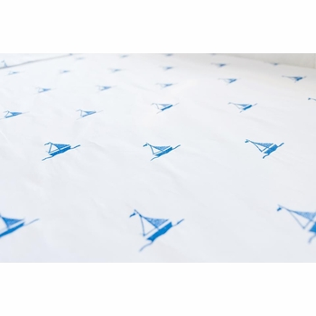 by the sea sailboats fitted crib sheet