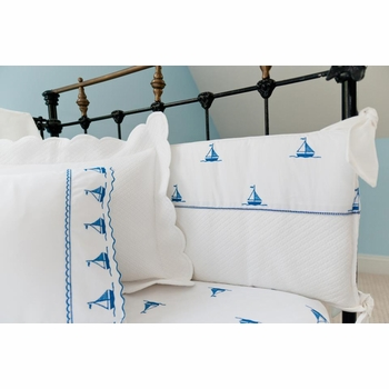 by the sea sailboats split fabric bumper
