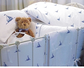 by the sea sailboats sweet square coverlet