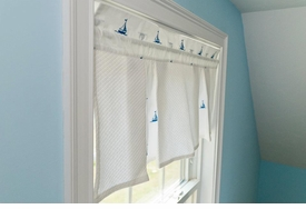 by the sea sailboats window treatment <br>call for pricing