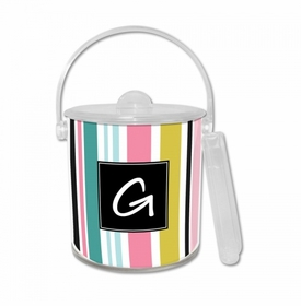 Cabana Stripe Ice Bucket