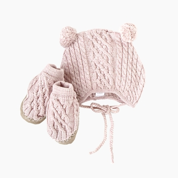 cable booties and hat set-egg by susan lazar