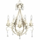 caesar chandelier pewter