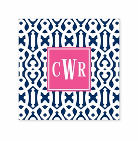 cameron navy coaster square paper coaster<br>set of 50
