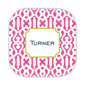 cameron raspberry hardback rounded coaster<br>(set of 4)