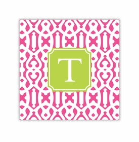 cameron raspberry square paper coaster<br>set of 50