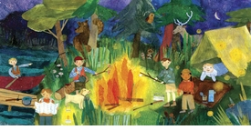 campfire kids wall art