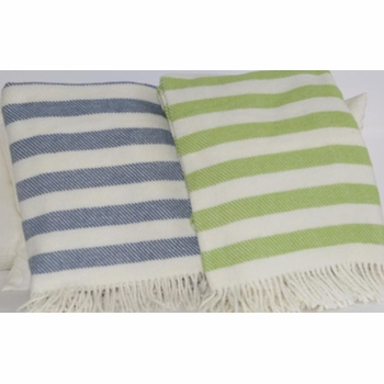 candy stripe fringed throw blanket<br> (several colors available)
