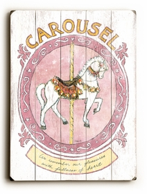carousel vintage sign