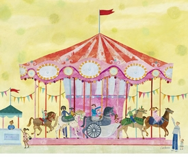 carousel wall art by maria carluccio
