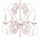 carriage chandelier pink