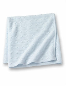 cashmere baby blanket - blue