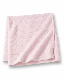 cashmere baby blanket - pink
