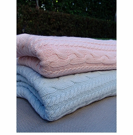 cashmere cable baby blanket by rani arabella
