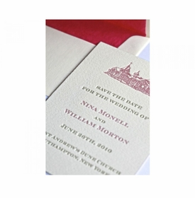castle save the date card