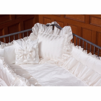 celeste ivory italian cotton fitted crib sheet