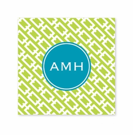 chain link lime coaster square paper coaster<br>set of 50