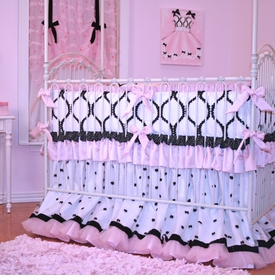 chanel crib bedding set