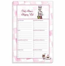 chef's list note pad
