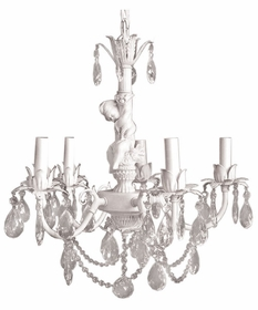 cherub 5 arm chandelier