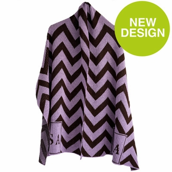 chevron and initials wrap