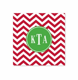 chevron red square paper coaster<br>set of 50