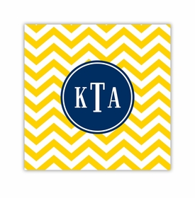 chevron sunflower coaster square paper coaster<br>set of 50
