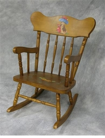 child's rocking chair (classic enchanted forest)