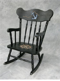 child's rocking chair (nautical)