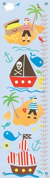 children's growth chart - collage pirate boys