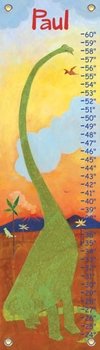 children's growth chart - dinosaur