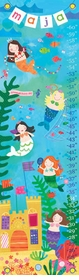 children's growth chart - mermaid