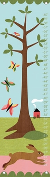 children's growth chart - modern bunny