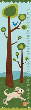 children's growth chart - modern dog