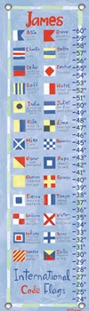 children's growth chart - nautical flags
