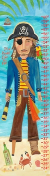 children's growth chart - pirate