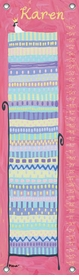 children's growth chart - princess and the pea (brunette)