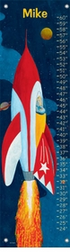 children's growth chart - rocket man