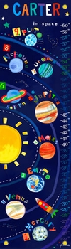 children's growth chart - solar system