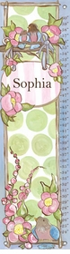 children's growth chart - sweet treat birdies