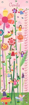 children's growth chart - woodland fairies