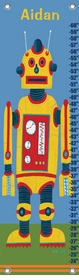 children's growth chart - yellow robot