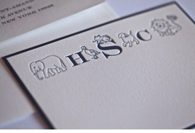 children's letterpress stationery