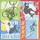 children's wall mural - extreme sports