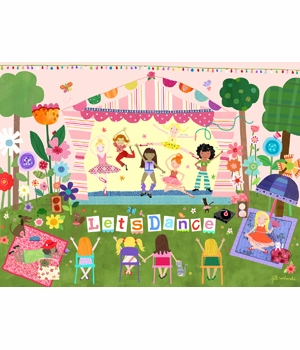 children's wall mural - let's dance