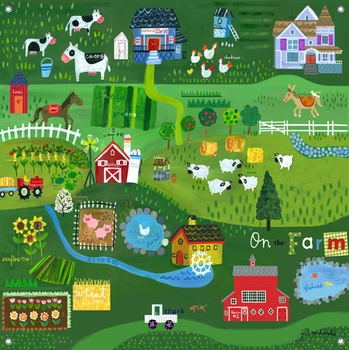 children's wall mural - on the farm