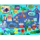 children's wall mural - trip to the zoo