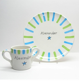 childs cup and plate set