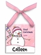 chilly snowgirl personalized christmas ornament